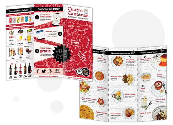 cuatro cantones menu